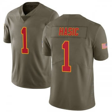 Youth Anas Hasic Kansas City Chiefs Nike Limited 2017 Salute to Service Jersey - Green