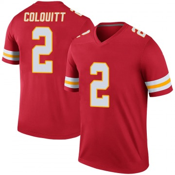 Youth Dustin Colquitt Kansas City Chiefs Nike Legend Color Rush Jersey - Red