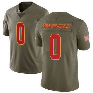 Youth Justice Shelton-Mosley Kansas City Chiefs Nike Limited 2017 Salute to Service Jersey - Green